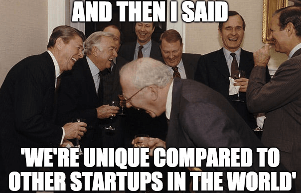 A group of men laughing