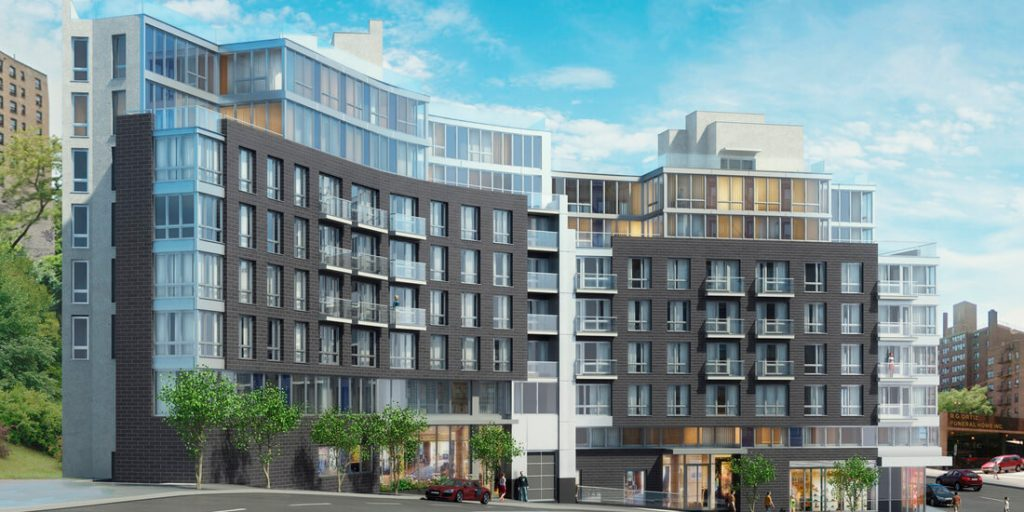 a seven-story, approximately 82.000 square feet residential project for rent on 4452 Broadway in Washington Heights