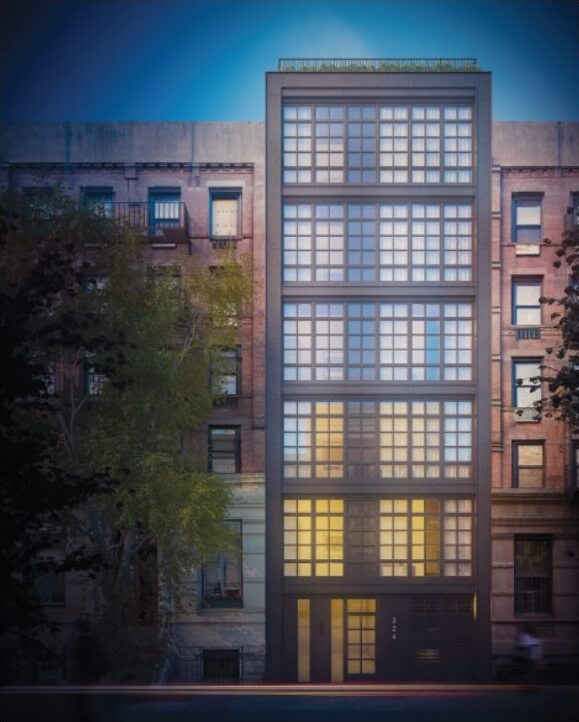 a high-end condominium which will include amenities such as a doorman, elevator, private storage space, gym, and a common roof terrace